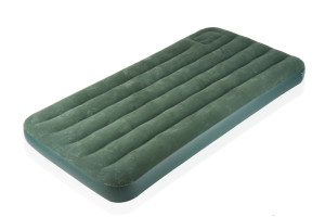 Green air mattress camping gear
