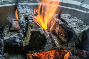log cabin fire style