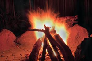 teepee fire style