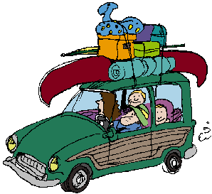 car loaded for camping